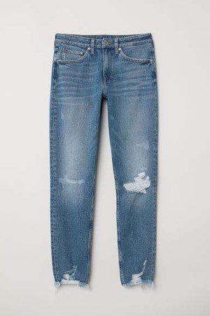 Girlfriend Regular Jeans - Blue