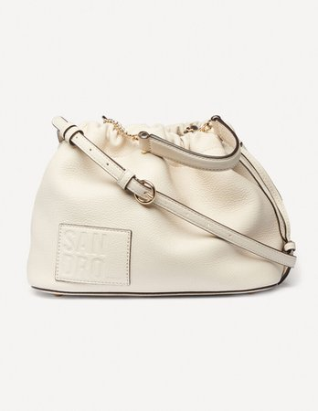 Grained leather bucket bag - Bags | Sandro Paris