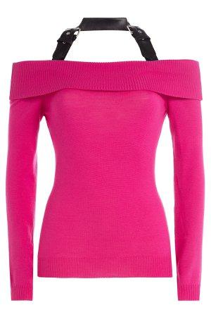 Off-the-Shoulder Wool Top with Halter Neckline Gr. IT 42