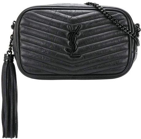 Lou quilted-effect crossbody bag