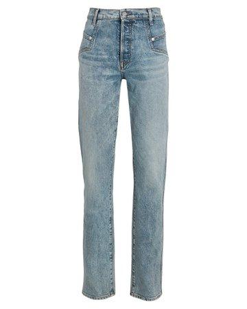 Veronica Beard Ryleigh High-Rise Straight-Leg Jeans | INTERMIX®