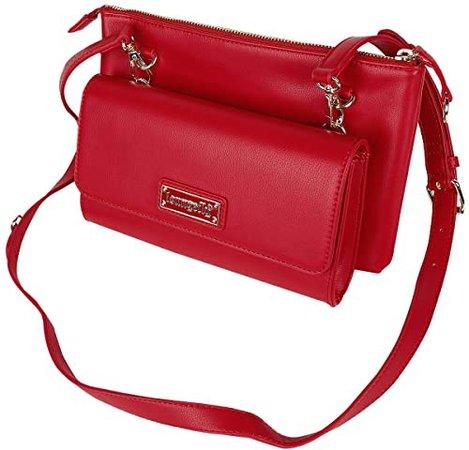 Loungefly Red Pin Trader Crossbody Bag: Handbags: Amazon.com