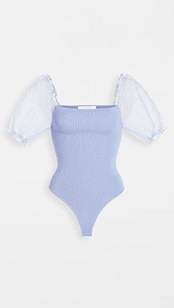 ASTR the Label Darling Sheer Puff Sleeve Thong Bodysuit | SHOPBOP
