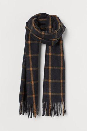 Checked scarf - Black/Beige checked - Ladies | H&M GB