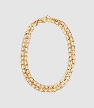 Lexi Gold Gold Plated Triple-Wrap Bracelet – REISS