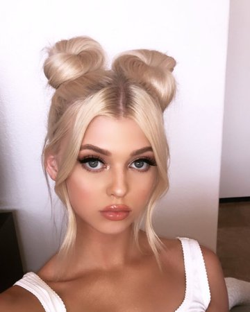 blonde space buns