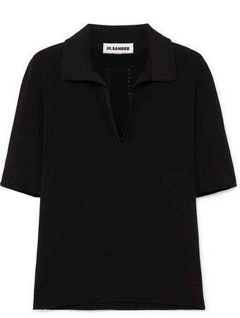 Stretch-jersey Polo Shirt - Black