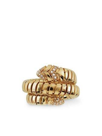 Bulgari Pre-Owned 1961 18kt Rose Gold Present Day Bvlgari Serpenti Diamond Ring - Farfetch