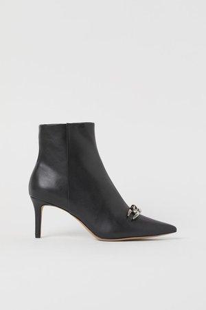 Chain detail Ankle Boots - Black - Ladies | H&M US