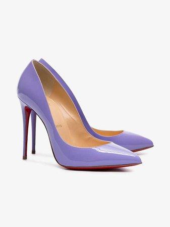 Christian Louboutin Purple Pigalle Follies 100 Patent Leather Pumps | Pumps | Browns