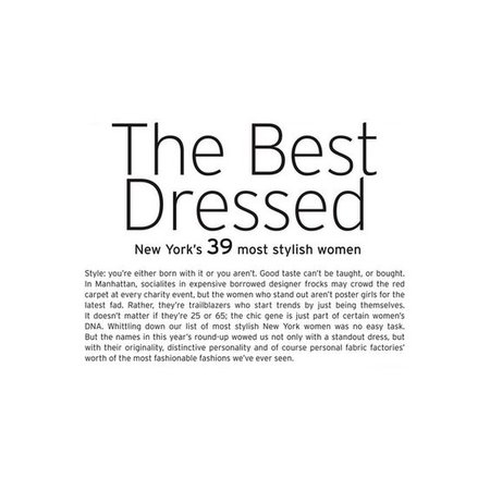 The Best Dressed Article