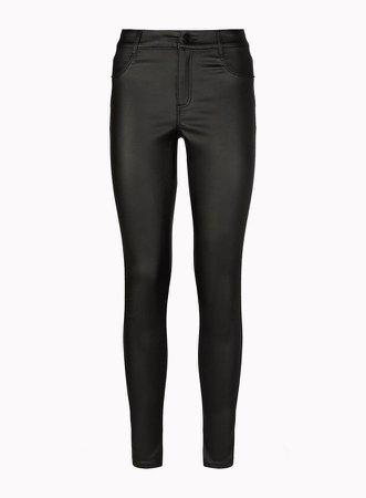 Black Coated Frankie Jeans
