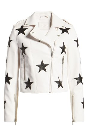 BLANKNYC Star Patch Faux Leather Moto Jacket | Nordstrom