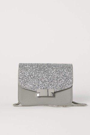 Glittery Shoulder Bag - Gray