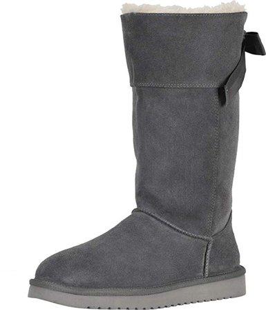 Amazon.com: Koolaburra by UGG Andrah Tall Stone Grey 10: Shoes