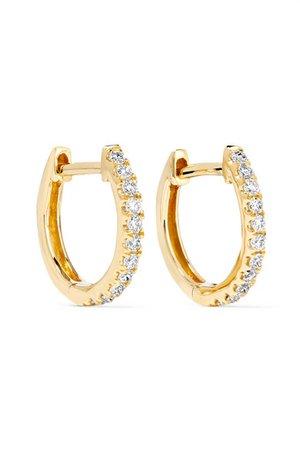 Anita Ko | Huggies 18-karat gold diamond earrings | NET-A-PORTER.COM