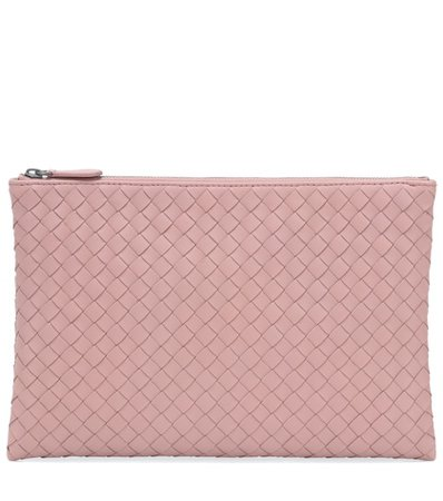 Biletto intrecciato leather clutch