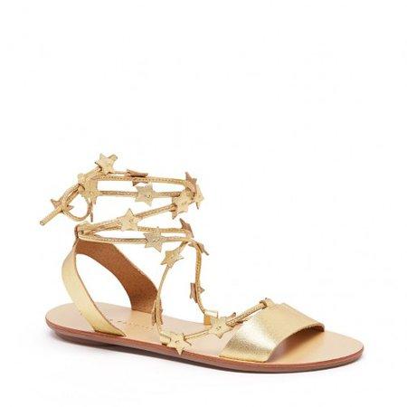 Loeffler Randall | Starla Wrap Sandal | Gold | Shoes