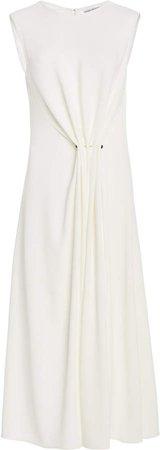 Victoria Beckham Draped Sleeveless Midi Dress