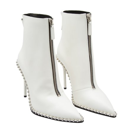 ALEXANDER WANG ERI LEATHER BOOTS white