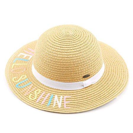 Amazon.com: C.C Straw Embroidered Lettering Floppy Brim Sun Kids Hat (KIDS-2017) (Little Sunshine): Gateway