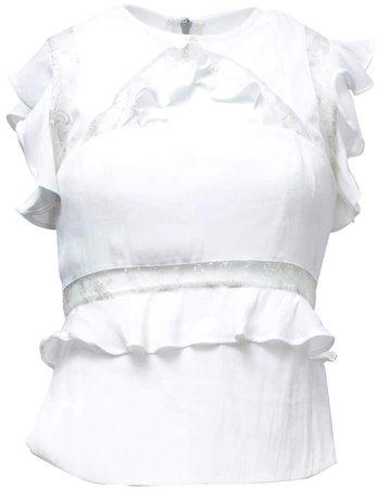 Vhny White Sleeveless Top