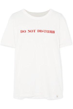 Sleepy Jones | Do Not Disturb printed cotton-jersey T-shirt | NET-A-PORTER.COM