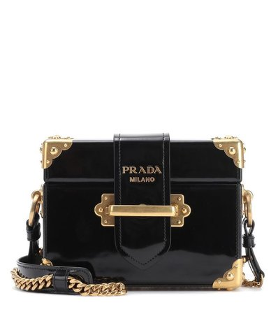 black leather prada bag