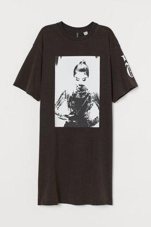 T-shirt Dress - Black/Selena Gomez - Ladies   H&M US