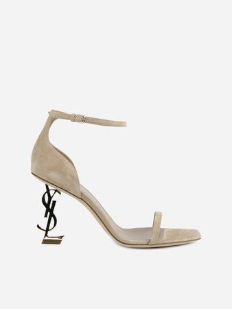 Saint Laurent Opyum Sandals In Suede