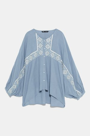 EMBROIDERED SHIRT - View All-SHIRTS | BLOUSES-WOMAN | ZARA United States