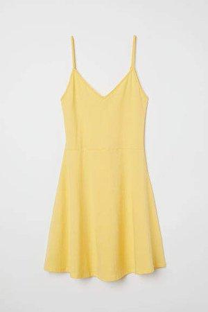 Short Jersey Dress - Yellow