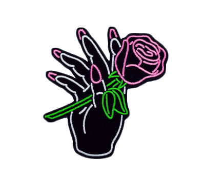 Hand Rose Patch