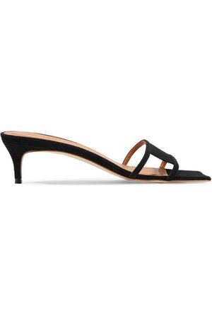 BY FAR | Virgo cutout suede mules | NET-A-PORTER.COM