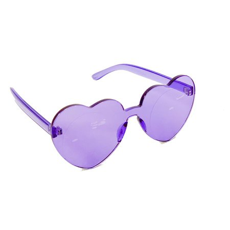 *clipped by @luci-her* Heart Shaped Rimless Colored Sunglasses - Too Fast Online