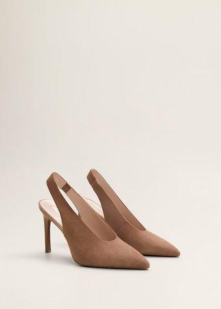 Δερμάτινο παπούτσι με τακούνι - Γυναίκα | Mango ΜΑΝΓΚΟ Ελλάδα