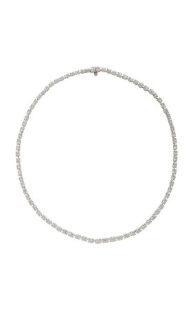 Platinum And Diamond Necklace by Gioia | Moda Operandi
