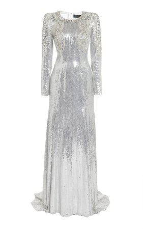Valenti Crystal-Embellished Sequined Gown by Jenny Packham | Moda Operandi