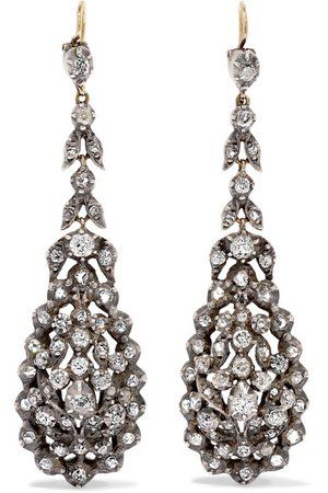 Fred Leighton | 1830s gold diamond earrings | NET-A-PORTER.COM