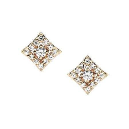 Regalo Diamond Stud Earring in 14k Yellow Gold by GiGi Ferranti