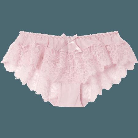 • cute lace kawaii pink underwear panties pastel pants Lingerie transparent pale undies transparent blog frills transparent-demons •