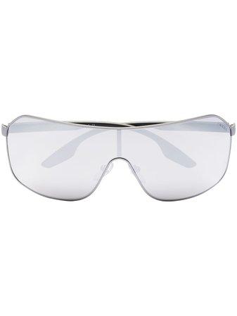 Prada Eyewear sport mirrored aviator sunglasses - FARFETCH