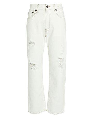 R13 Boyfriend Distressed Jeans   INTERMIX®