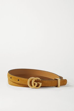 Gucci | Suede belt | NET-A-PORTER.COM