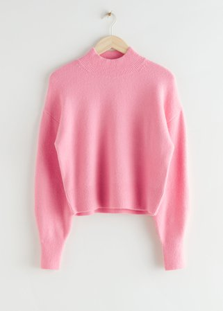 Mock Neck Sweater - Pink - Sweaters - & Other Stories