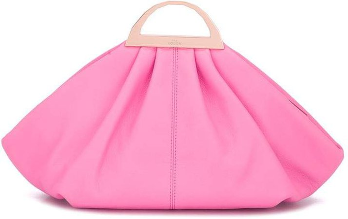 Gabi pleated clutch bag
