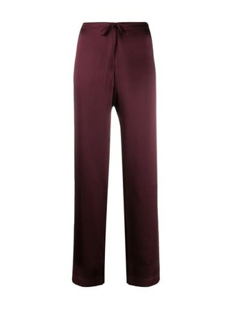 La Perla Two-Piece Silk Pajama 0020288 Purple | Farfetch