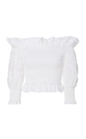 Miski Strapless Cotton Top by Chufy | Moda Operandi