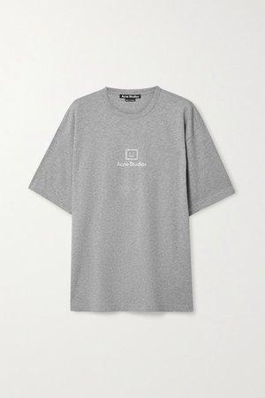 Printed Cotton-jersey T-shirt - Gray