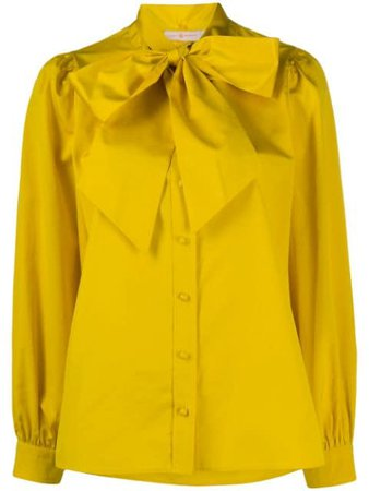Tory Burch Pussy Bow Crepe De Chine Blouse - Farfetch